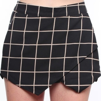 skirt shorts plaid skirt