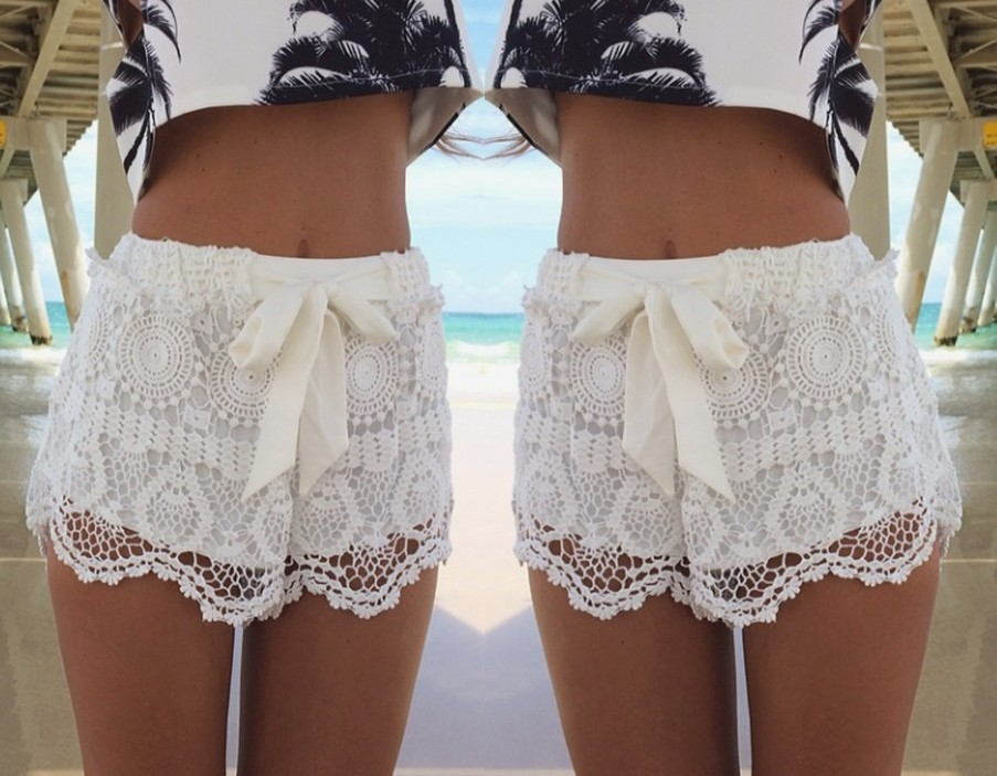 2014 Latest Lace Shorts with Ribbon Women Summer Shorts Feminino-in Shorts from Apparel & Accessories on Aliexpress.com | Alibaba Group