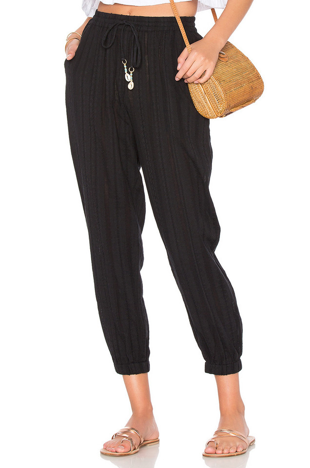 Seafolly Washed Dobby Beach Pant in black