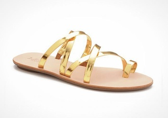 shoes gold metallic sandals strappy sandals flat sandals cute sandals gold sandals slide sandals strappy slide sandals cute strappy sandals cute gold sandals