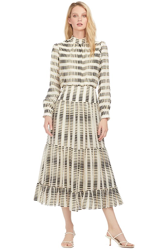 Isabel-B Dress (Cream/Black/Gold)