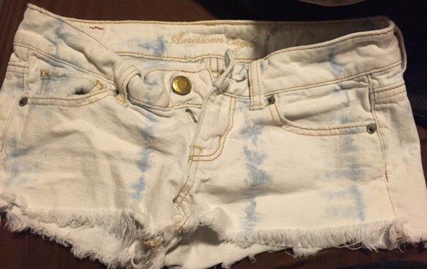 19fce51f03 shorts, rn 54485, white ripped denim, white shorts, american eagle ...