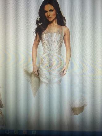 dress terrani couture nude dress
