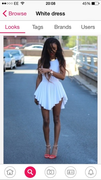 dress white dress pretty dress short dress long dress short sleeve white skirt