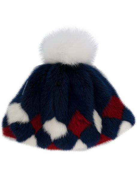 hat blue pattern