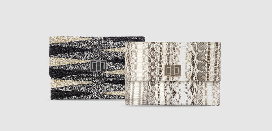 Valorie Backgammon clutch Handbags