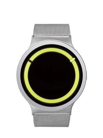 metallic watch silver jewels