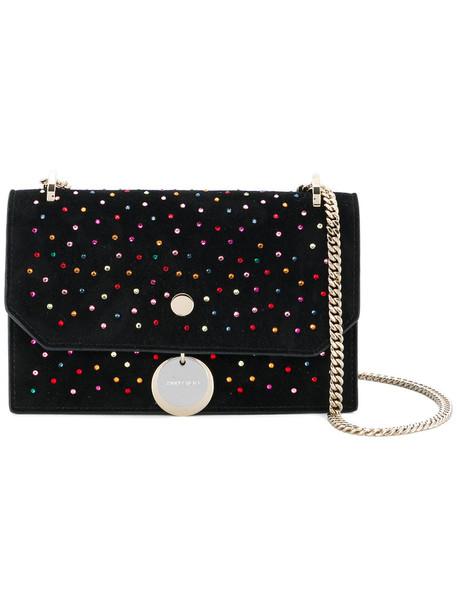 women embellished bag shoulder bag leather black