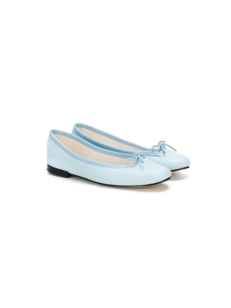 Repetto bow classic shoes leather cotton blue