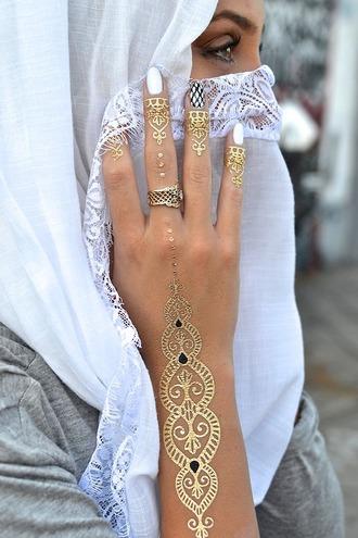 jewels gold tattoo