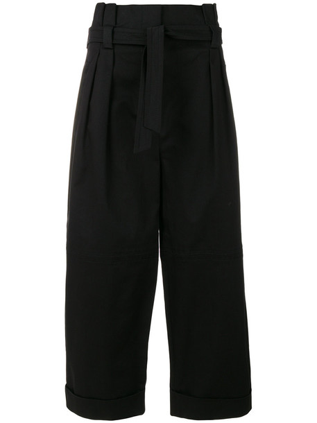 Alberta Ferretti cropped women cotton black pants