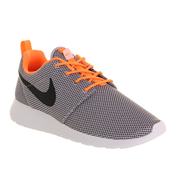 Nike Roshe Run Wolf Grey Atomic Orange - Unisex Sports
