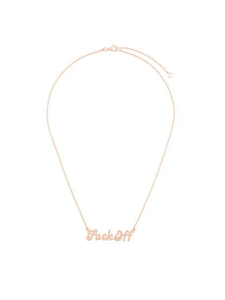 True Rocks rose gold rose women necklace gold silver grey metallic jewels
