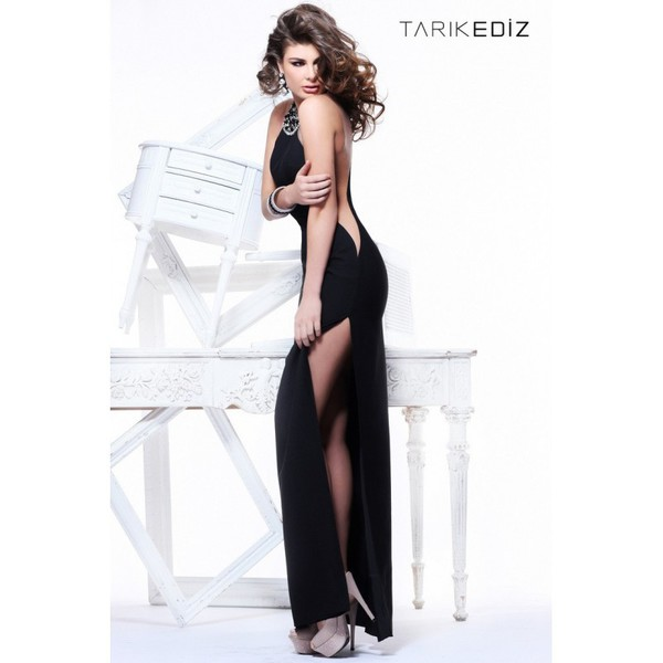 dress 2016 tarik ediz evening dresses galaxy print elbise