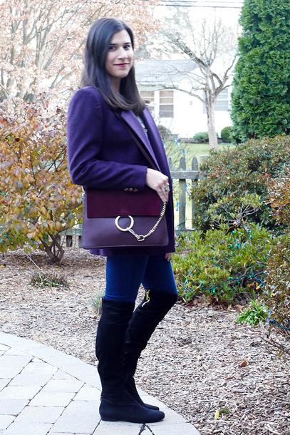 closetfashionista blogger jacket sweater jeans shoes jewels bag boots blazer