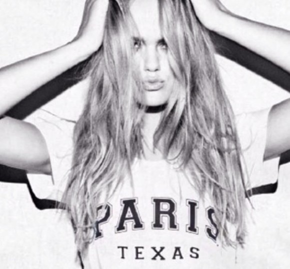 shirt texas paris texas white tee paris