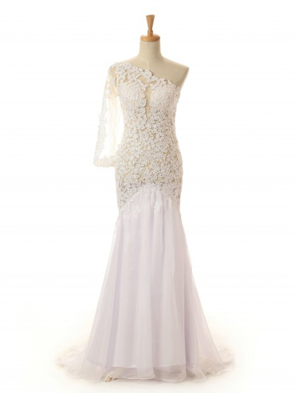 Dress prom lace dress long dress bridesmaid wheretoget for Oxiclean wedding dress