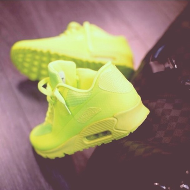 shoes air max nike air max 90 nike air max 90 hyperfuse air max volt green 12fa5a8ceb