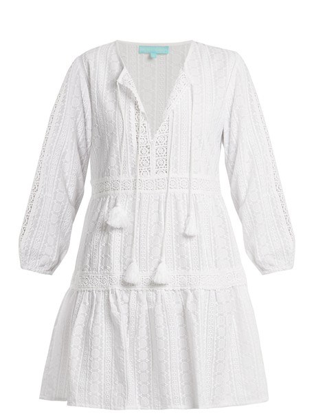 Melissa Odabash dress embroidered cotton white
