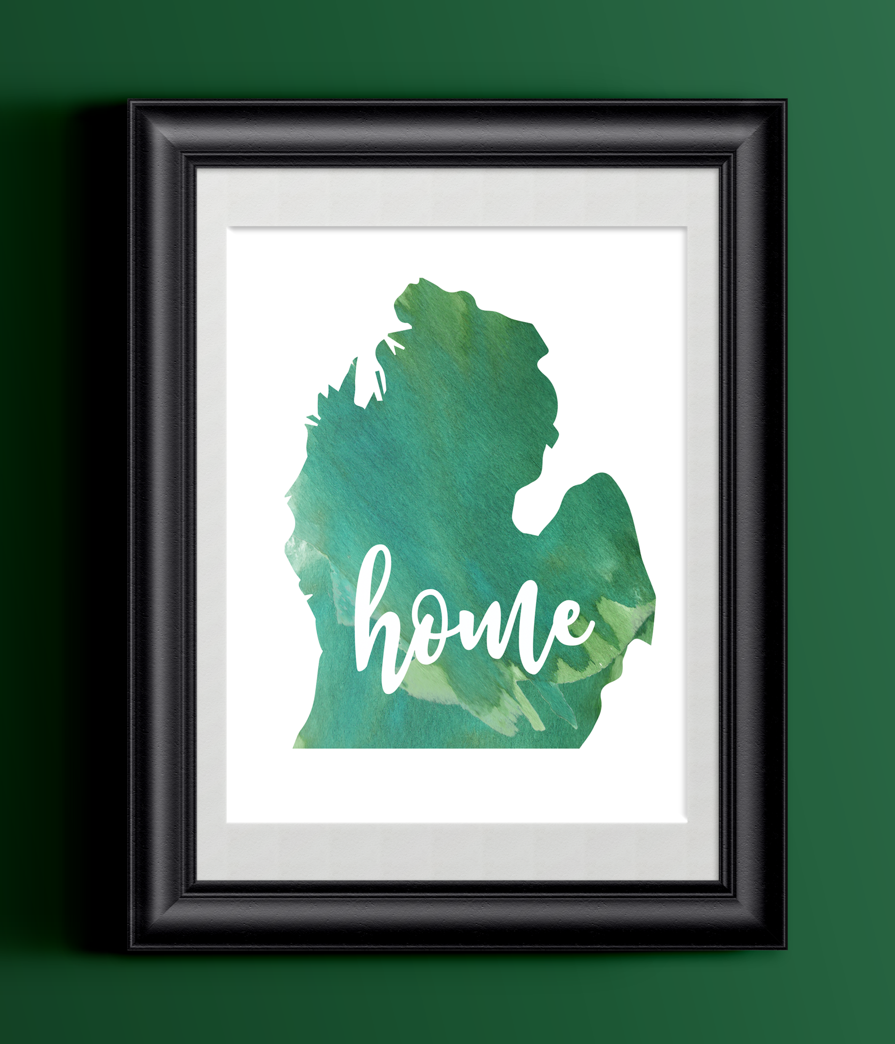 Michigan Home Watercolor Print | State Home Poster | Wall Decor