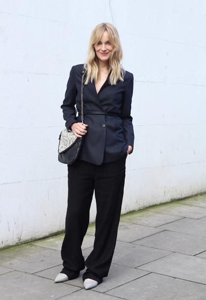 blame it on fashion blogger pants shoes jacket bag jewels
