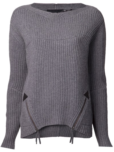 L.a.m.b. Zip Front Sweater - Haven - Farfetch.com