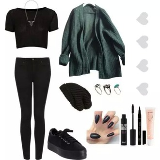 cardigan green aesthetics aesthetic tumblr grunge baggy shoes leggings top