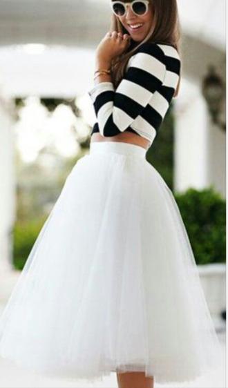 skirt tulle skirt whiteshirt