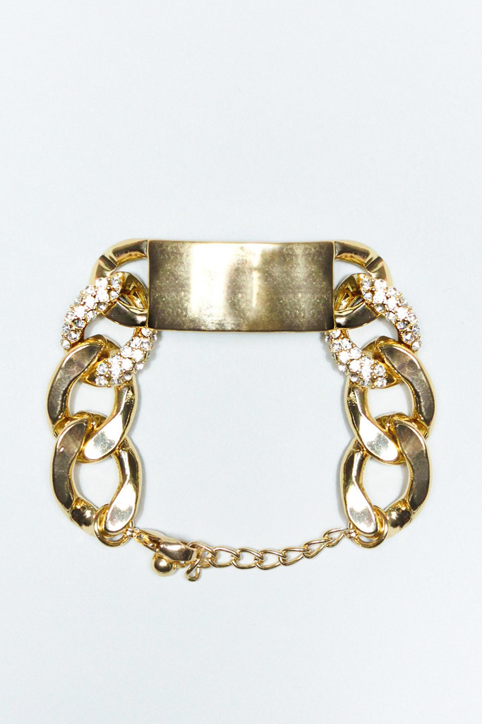 Gold Chain Bracelet With Bar | uoionline.com: Women's Clothing Boutique