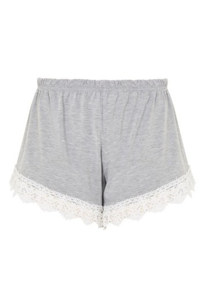 Topshop shorts crochet grey