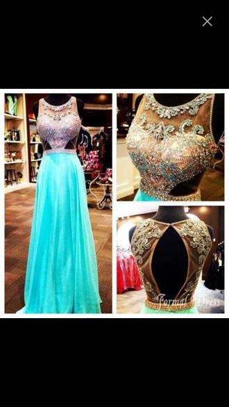 dress beautiful prom dress blue dress