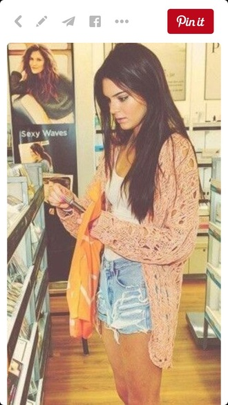 tights kendall jenner pink cardigan sweater knitted cardigan knitted sweater coral cool summer outfits summer