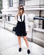 for all things lovely,blogger,bag,jacket,jewels,sunglasses,black and white,rebecca minkoff,crossbody bag,button up,black dress,suede dress,black bag,shoulder bag,mini dress,black flats