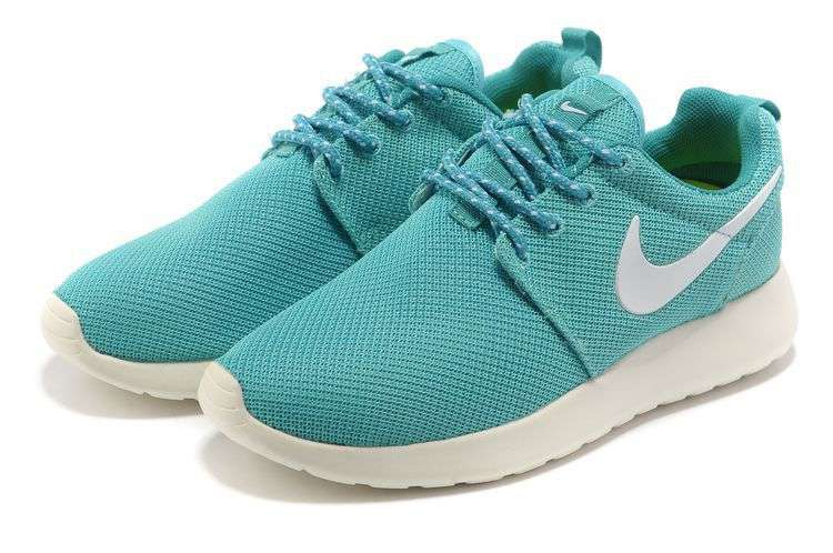 Nike roshe run womens blue white mesh shoes