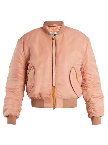 Acne Studios jacket bomber jacket light pink light pink