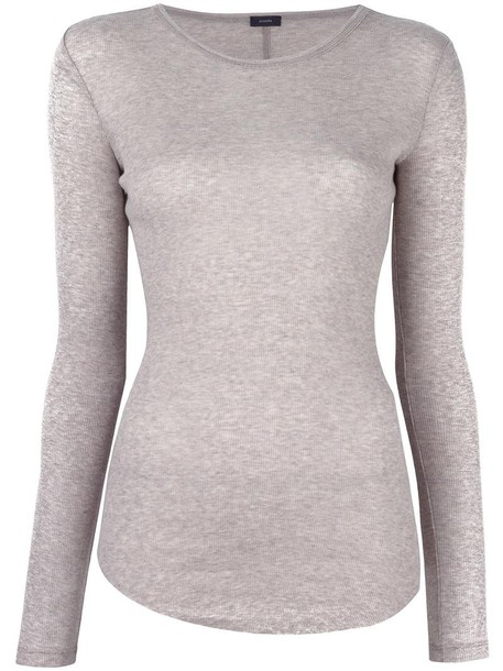 jumper women cotton grey sweater