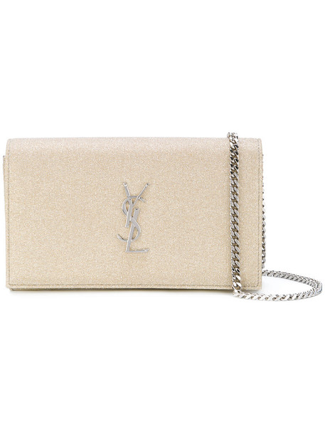 Saint Laurent women bag chain bag leather nude