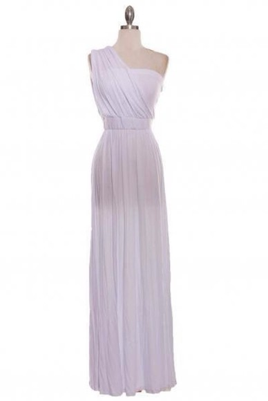 one shoulder flowing maxi dress