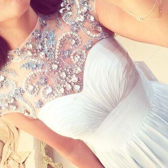 dress wedding dress embroidered