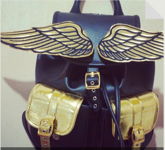 bag backpack angel wings