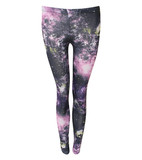 Mila galaxy print leggings in multi colour
