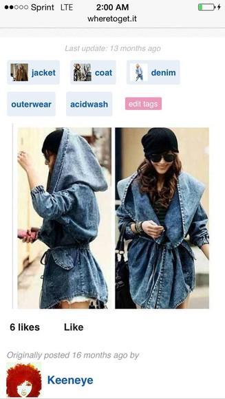denim jacket jacket hooded oversized jacket