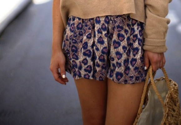 shorts peacock high waisted summer outfits cute leopard print heart