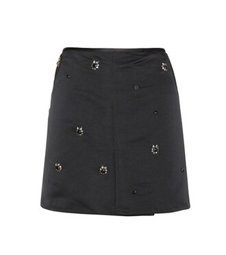 skirt embellished satin black