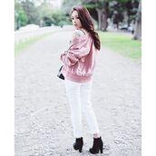 jacket,na-kd,baby pink,dusty pink,trendy,fashion,streetstyle,clean,bomber jacket,NA-KD Fashion