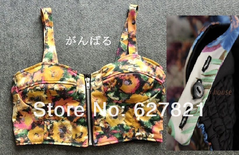 Aliexpress.com : buy wholesle sexy club top 2013 women's bra crop camis fashion vintage floral print adjusted straps bra vest top with free shipping from reliable club crop tops suppliers on gloreal