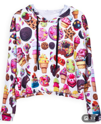 sweater sweatshirt food pullover yummy sweets shirt junkfood hoodie colorful top jacket emoji print emoji tracksuit emoji crop top