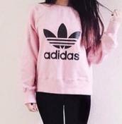sweater,pink,adidas