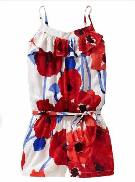 shorts floral summer vibrant romper playsuit spring sophisticated