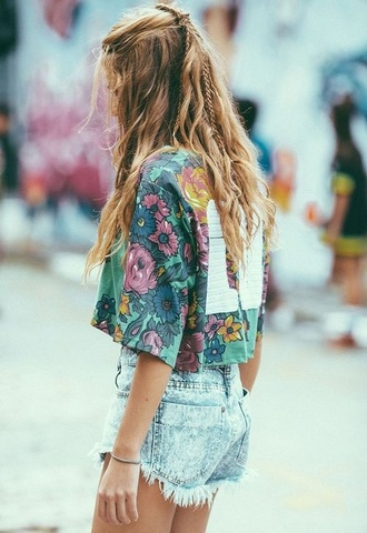 top flowers number boho boho chic boho shirt style vintage green girly girl indie boho indie shorts hippie t-shirt